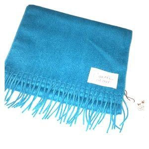 COACH turquoise wool/cashmere blend Muffler scarf
